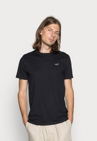 Hollister Co. - CREW CHAIN 3 PACK - Basic T-shirt - black/white/grey - 3