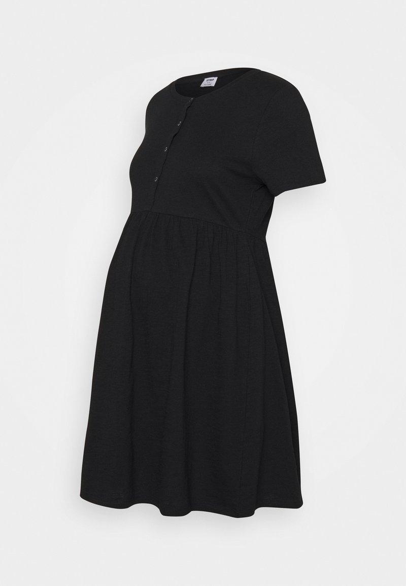 Cotton On - MATERNITY SHORT SLEEVE BABYDOLL MINI DRESS - Jersey dress - black