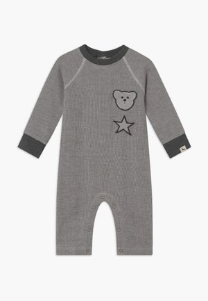 BADGED COSY PLAYSUIT BABY - Combinaison - grey