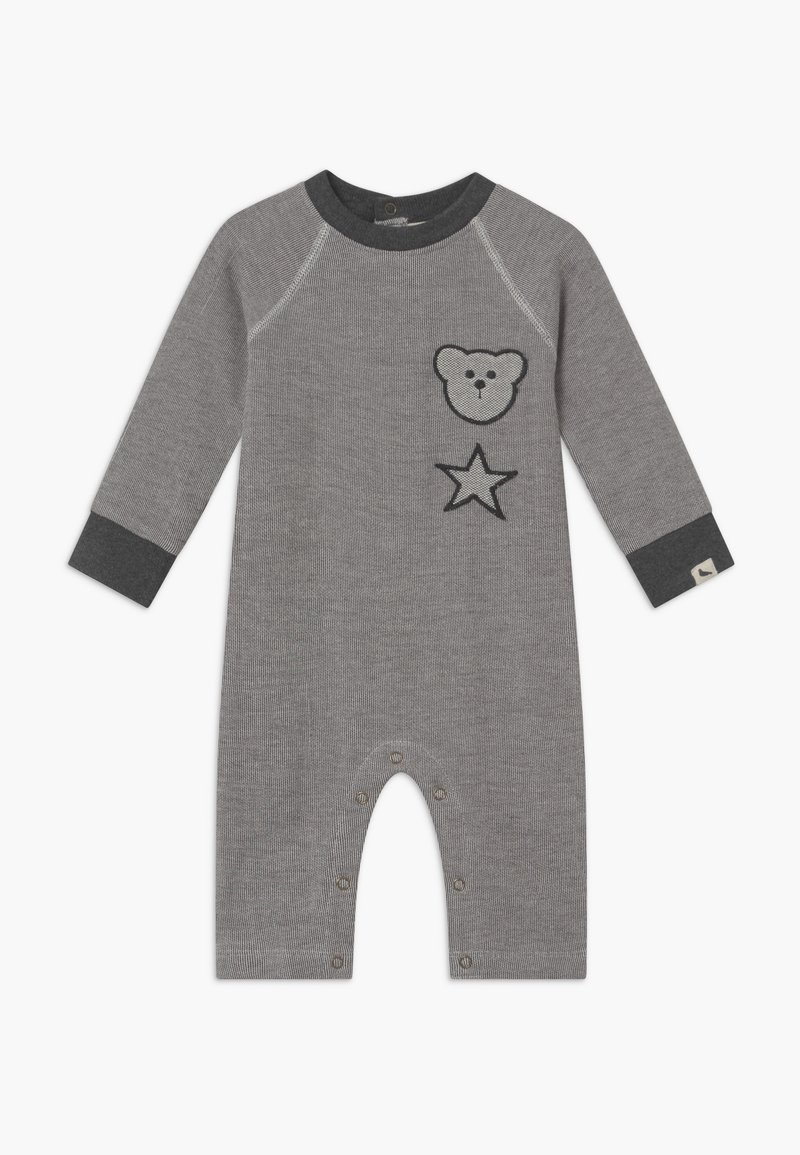 Turtledove - BADGED COSY PLAYSUIT BABY - Jumpsuit - grey