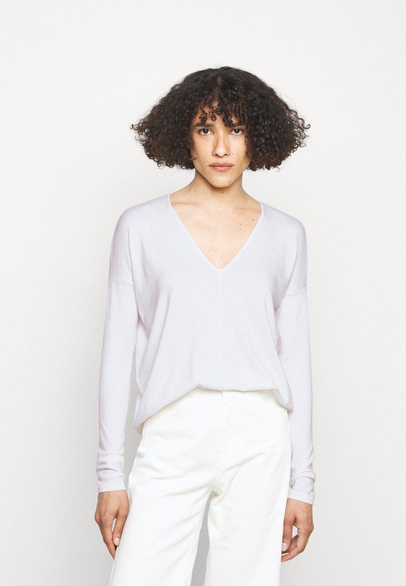 rag & bone - THE VEE - Long sleeved top - white