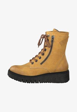 Platform ankle boots - saffron matt