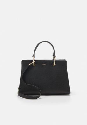 VIVIAN DOUBLE FLAP SHOULDER - Handbag - black/gold-coloured
