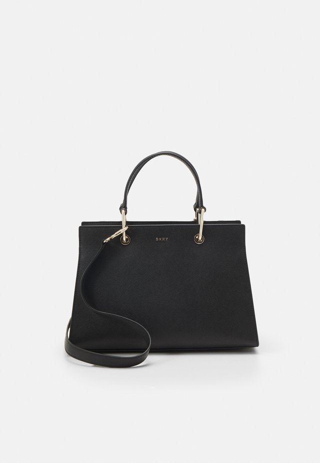 VIVIAN DOUBLE FLAP SHOULDER - Kabelka - black/gold-coloured