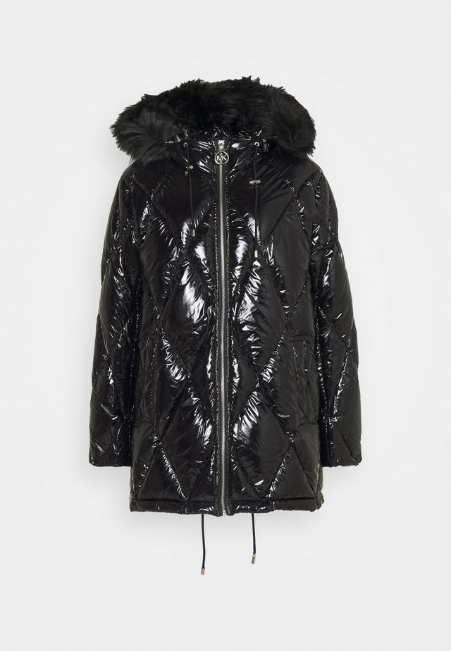HOOD ZIP - Down jacket - black