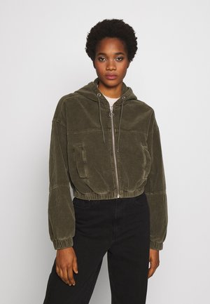 HOODED JACKET - Bomberjacke - khaki