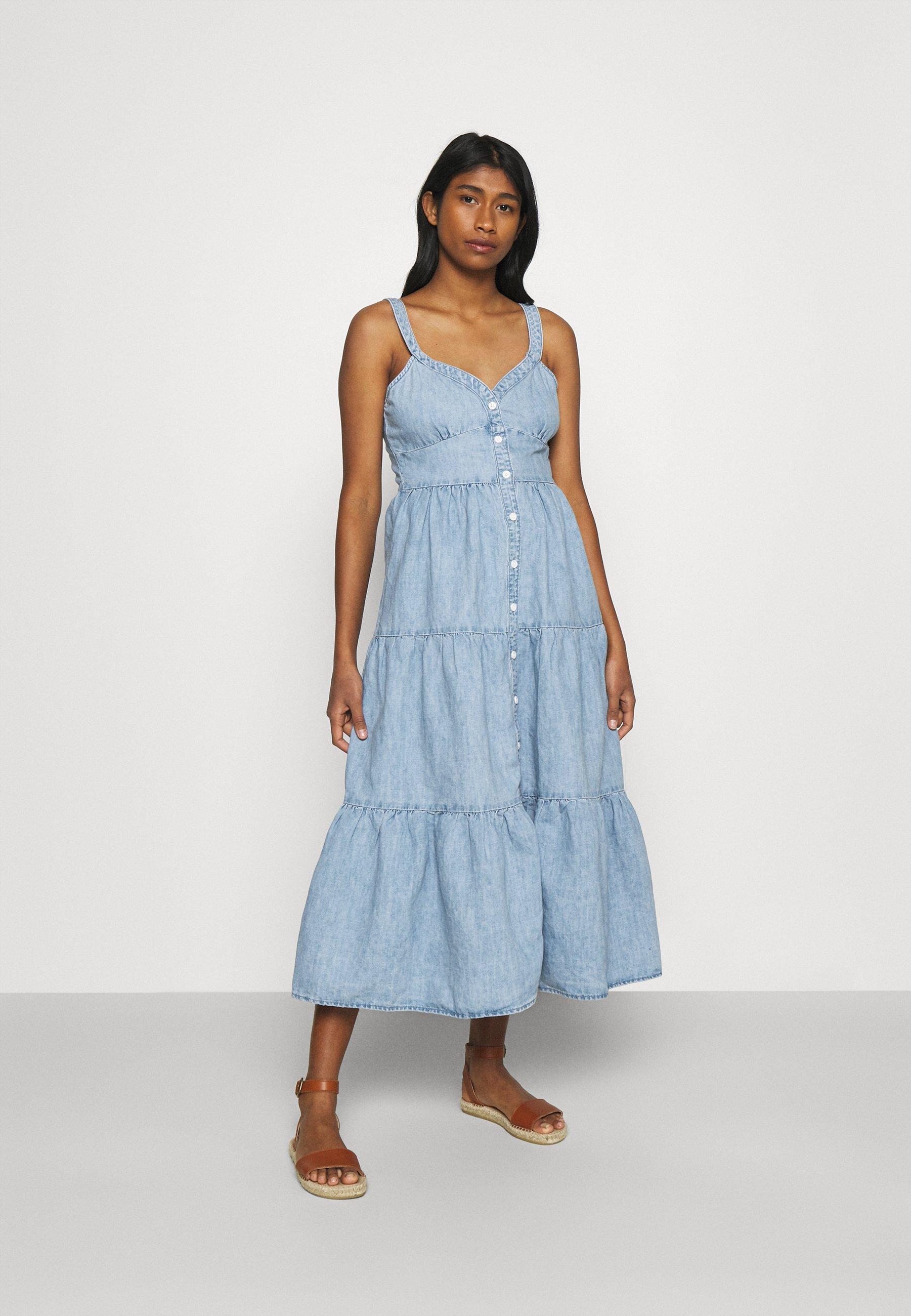 Women SABINE DRESS - Denim dress