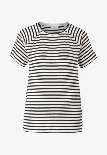 Print T-shirt - black stripes