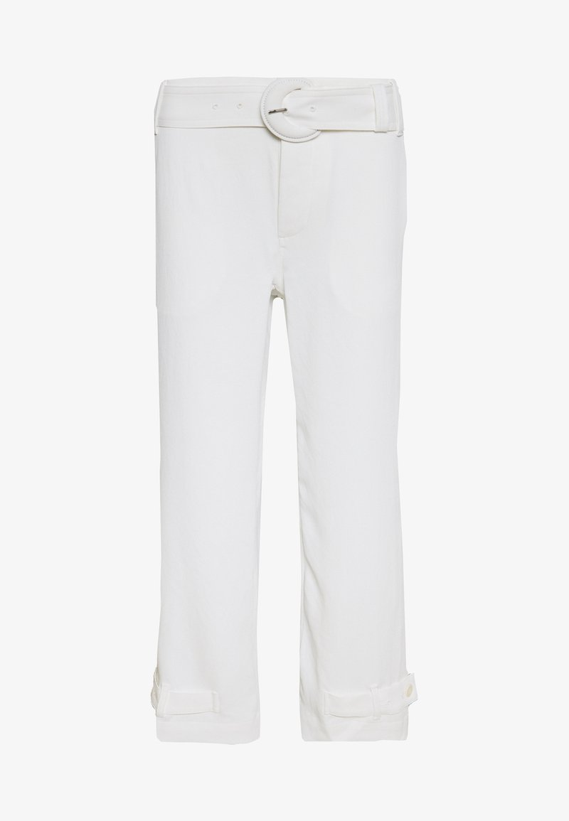 Proenza Schouler - RUMPLED BELTED PANT - Trousers - off white