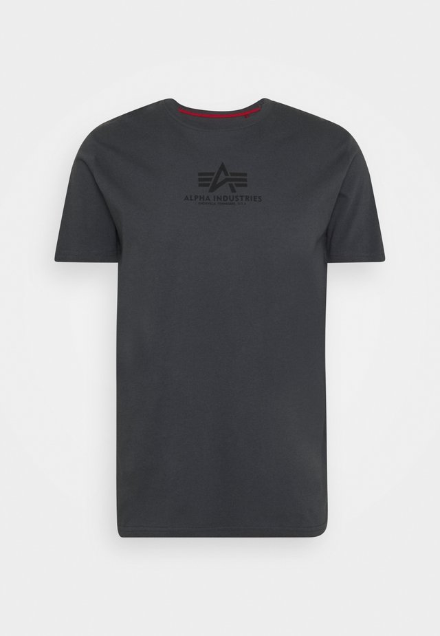 Print T-shirt - greyblack