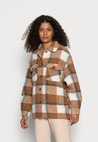 Rich & Royal - JACKET CHECKED - Light jacket - chocolate brown - 0