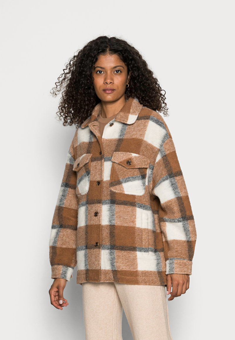 Rich & Royal - JACKET CHECKED - Light jacket - chocolate brown