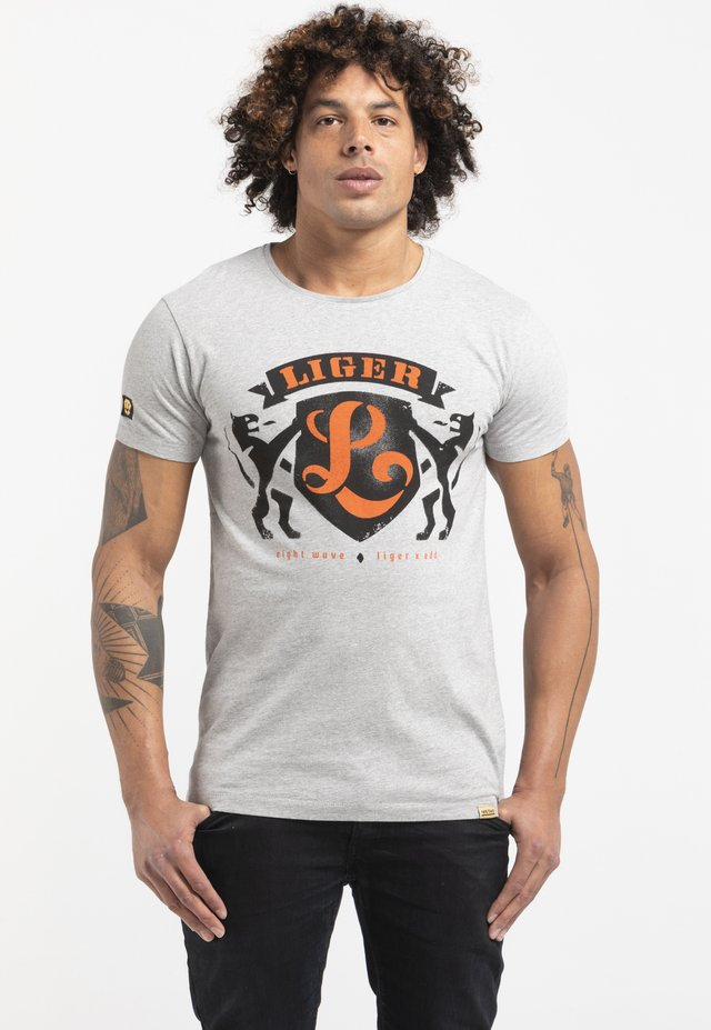 Limited to 360 pieces - Edd Simons - Typography - Print T-shirt - light heather grey melange