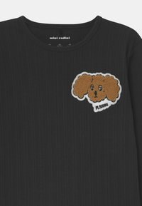 Mini Rodini - FLUFFY DOG PATCH UNISEX - Long sleeved top - black - 2