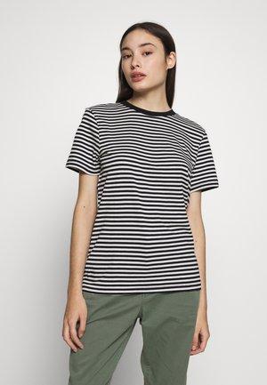 SFMY PERFECT TEE BOX CUT - Print T-shirt - black/snow white