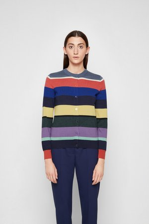 KNITTED CARDIGAN - Cardigan - multicolour
