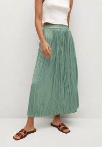 Mango - PALMER - Plisovaná sukně - aquamarijn - 0