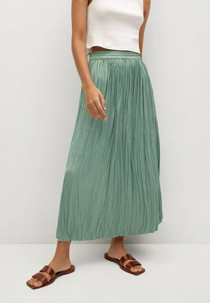 PALMER - Pleated skirt - aquamarijn