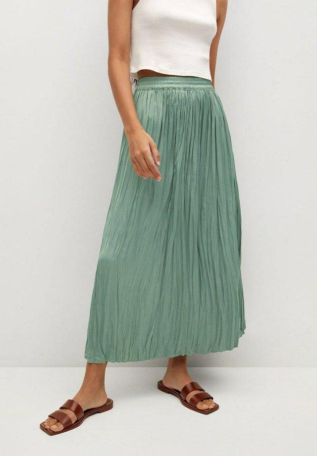 PALMER - Plisovaná sukně - aquamarijn