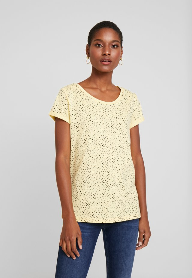 CORE - T-shirt z nadrukiem - light yellow