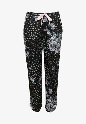 Pyjamahousut/-shortsit - black ditsy