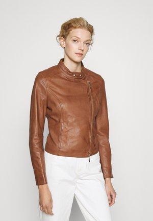 JACKET - Leather jacket - hazel