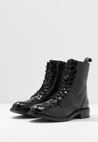 Zign - Cowboy/biker ankle boot - black - 4