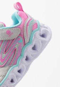 Skechers - HEART LIGHTS - Sneakers laag - silver/multicolor - 5