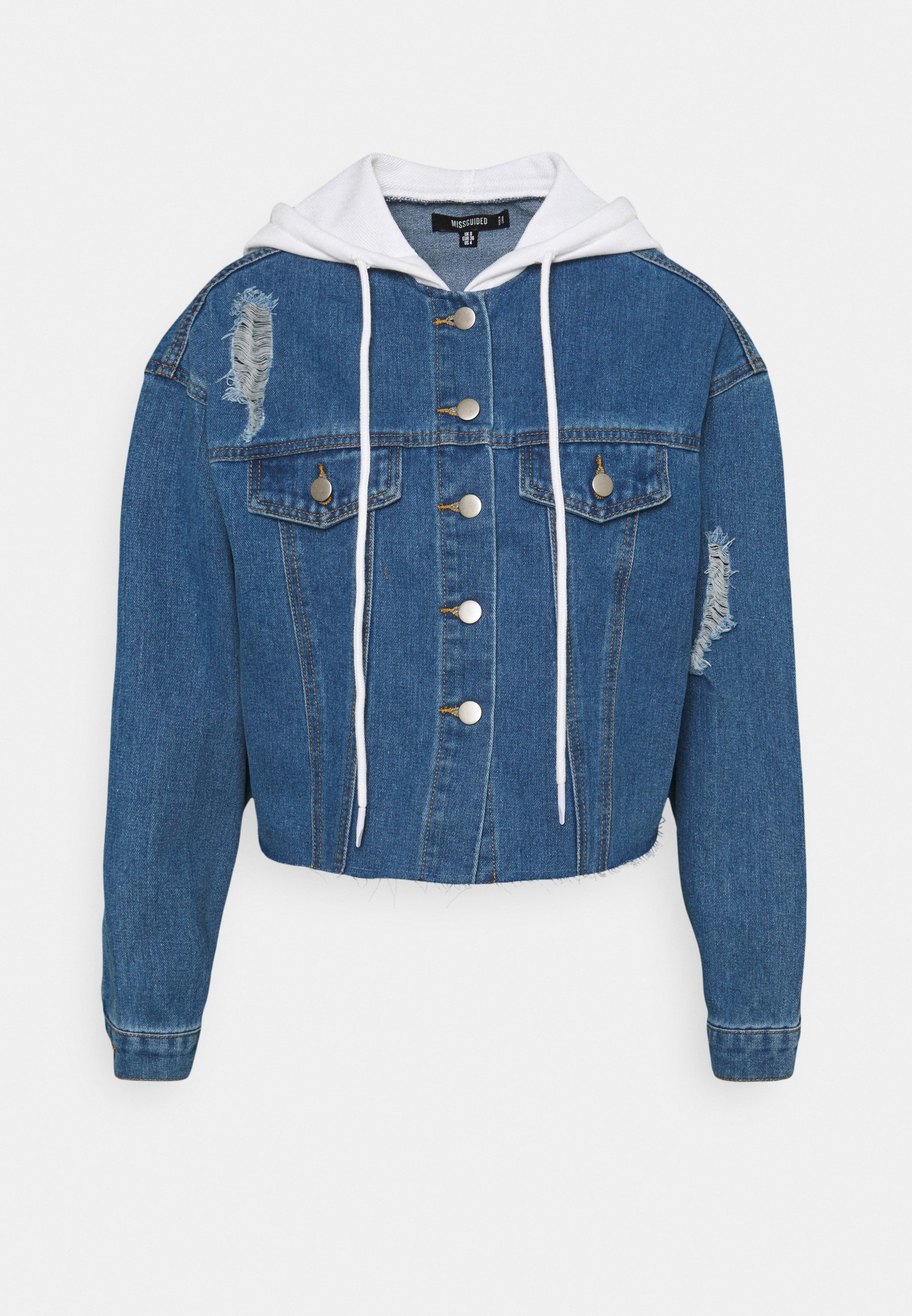 Women HOODED RAW JACKET - Denim jacket