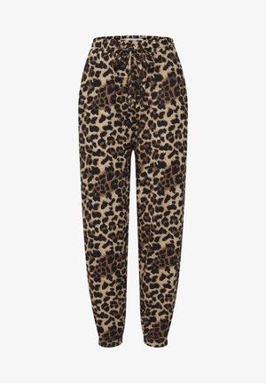 IXANNIE - Tracksuit bottoms - black leopard