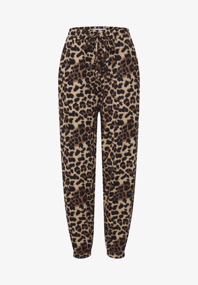 IXANNIE - Pantaloni sportivi - black leopard