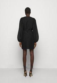 DESIGNERS REMIX - SONIA WRAP DRESS - Day dress - black - 2