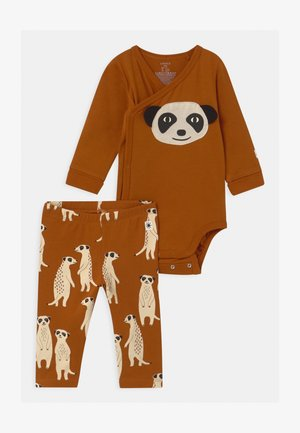 WRAP LEO & MEERKATS SET UNISEX - Leggings - Trousers - brown