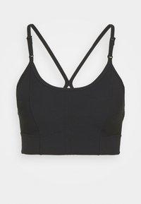 INDY BRA - Light support sports bra - black/dark smoke grey