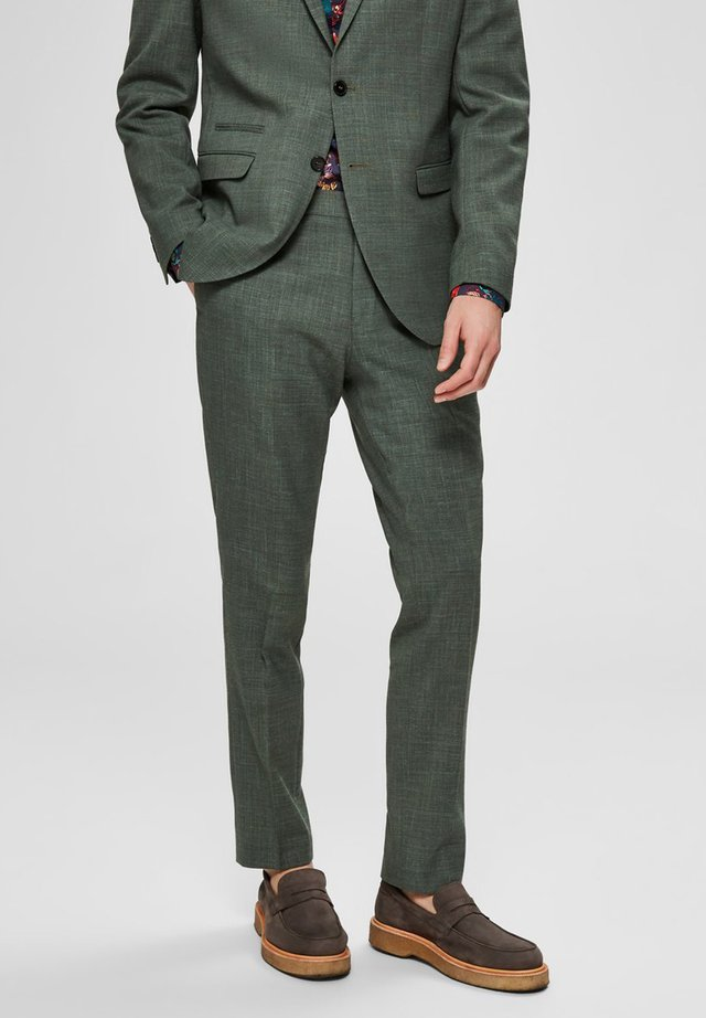 SELECTED HOMME ANZUGHOSE SLIM FIT - Pantalon - shadow
