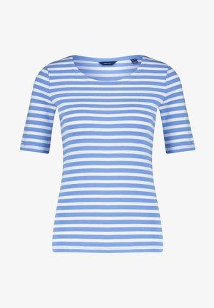 GANT DAMEN SHIRT KURZARM - Print T-shirt - blau