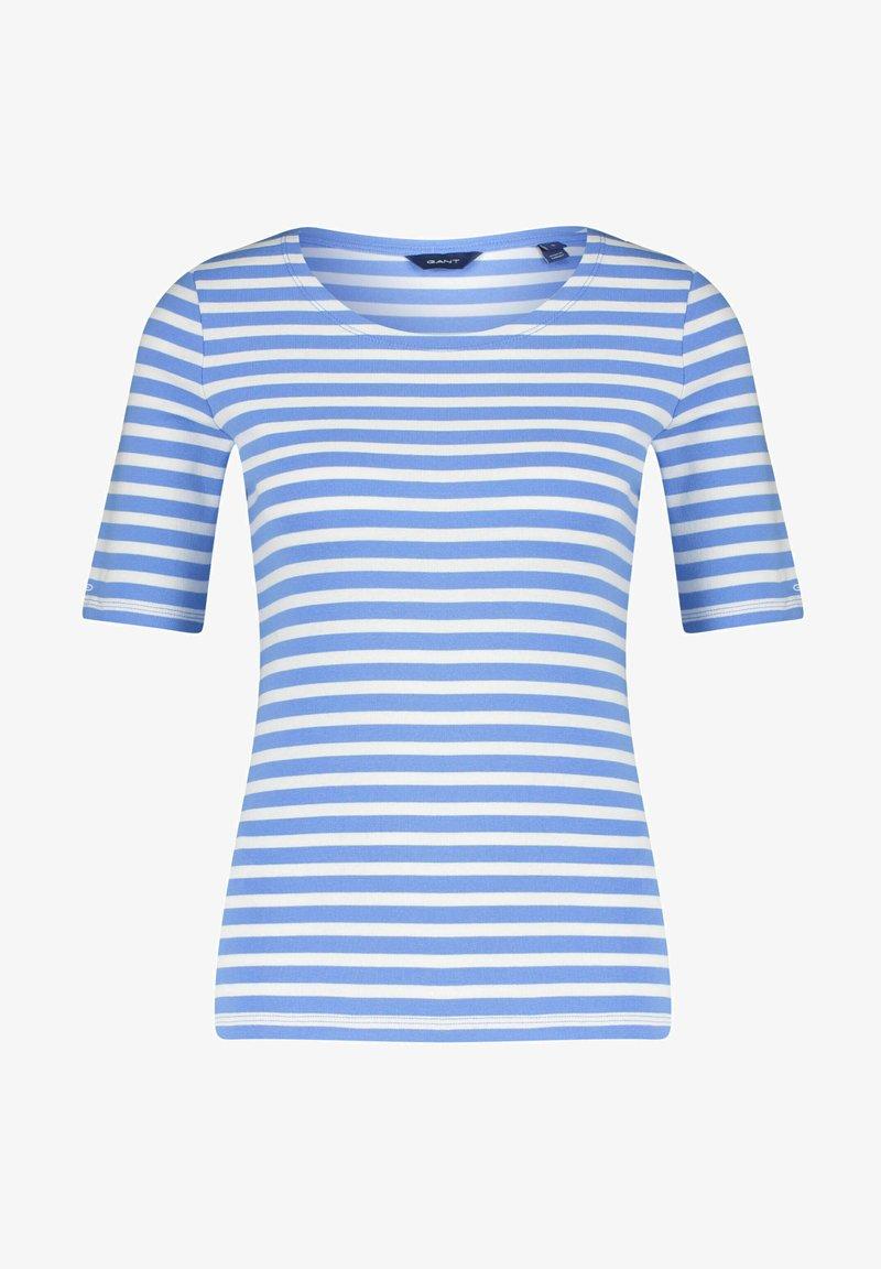 GANT - GANT DAMEN SHIRT KURZARM - Print T-shirt - blau