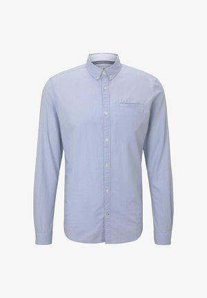 Overhemd - light blue white structure