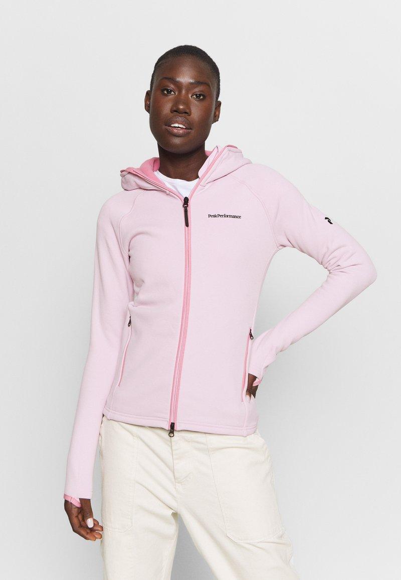 Peak Performance - CHILL ZIP HOOD - Fleece jacket - cold blush