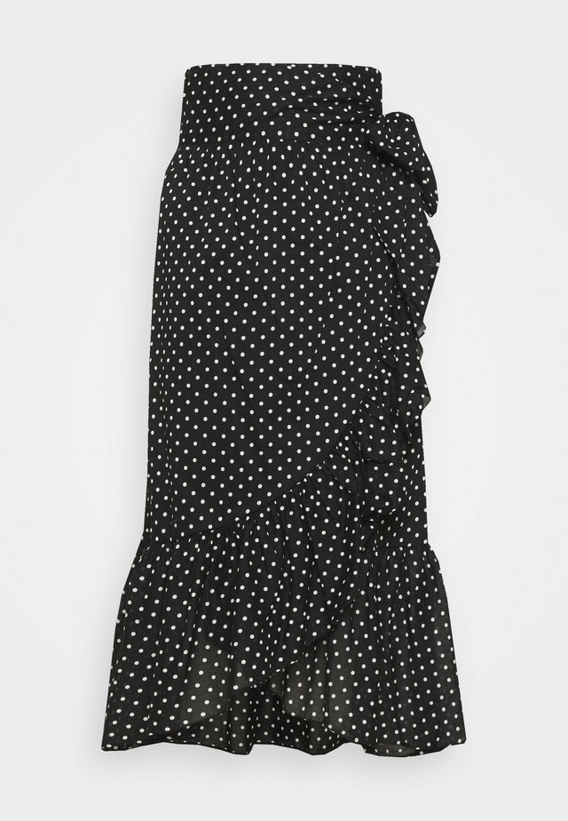 MORA DOT THINKTWICE - A-lijn rok - black