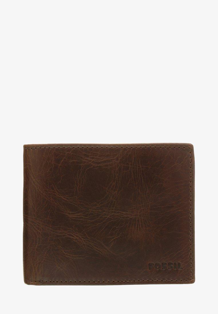 Fossil - DERRICK  - Wallet - dark brown
