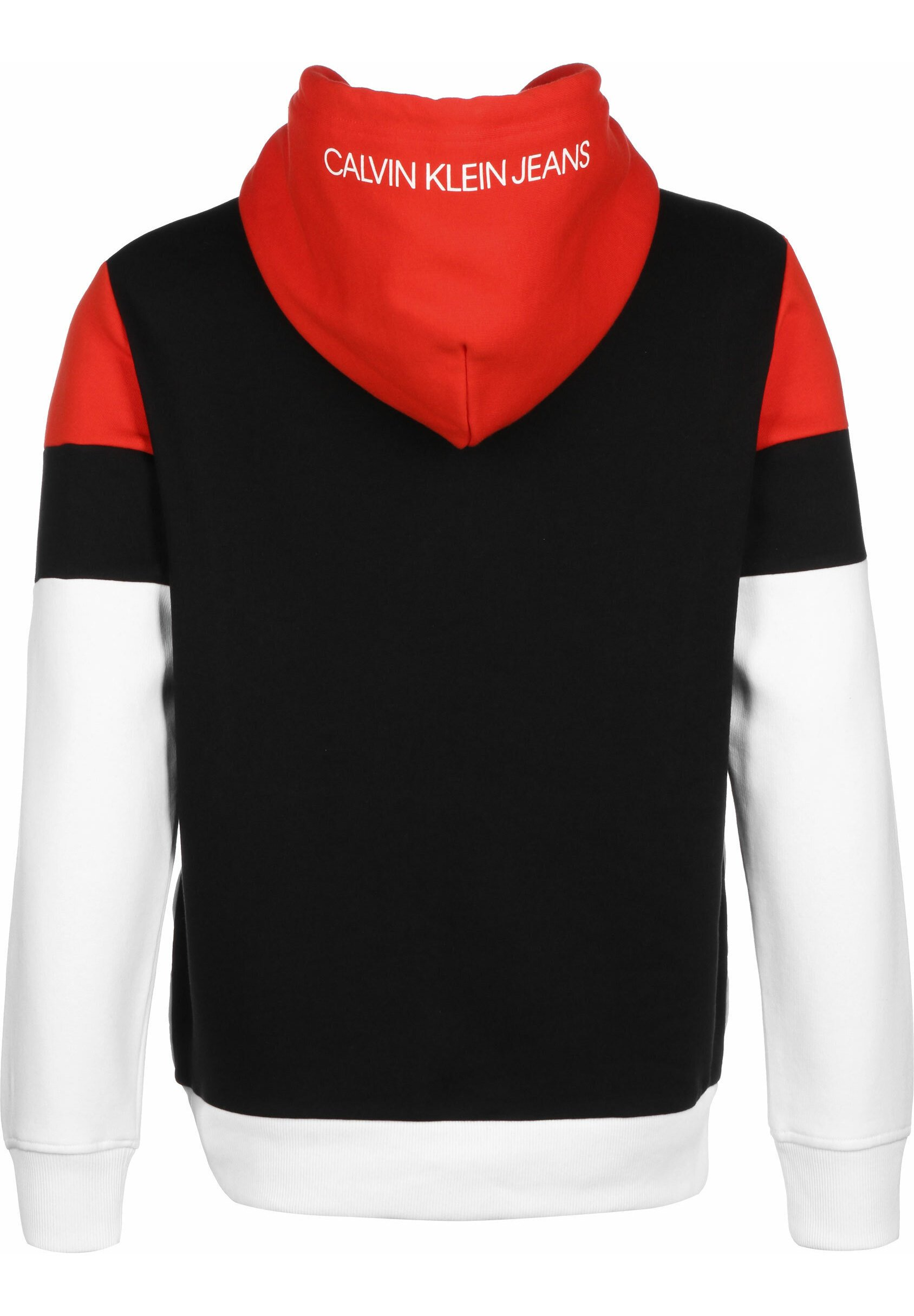 Calvin Klein Jeans Sweat à capuche - white/black/red