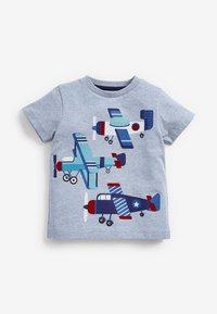 Next - 3 PACK  - T-shirt print - blue - 5