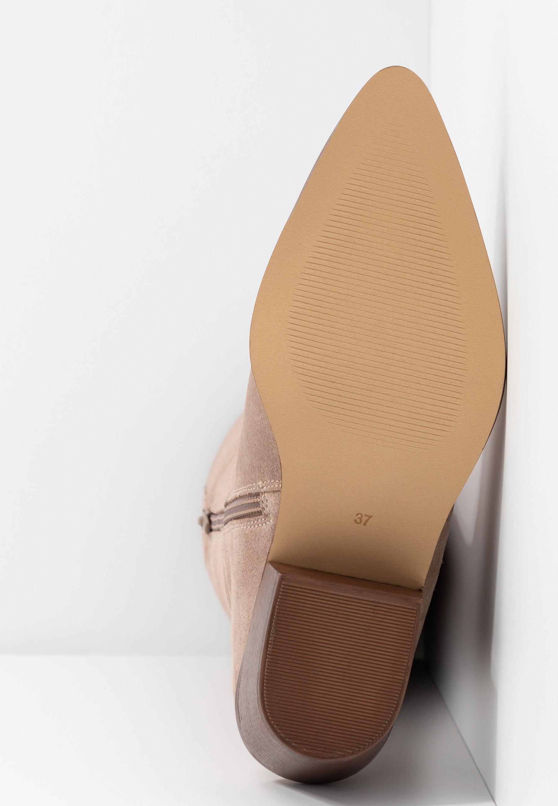 Copenhagen Shoes ROSI Overknee laarzen beige Zalando.nl