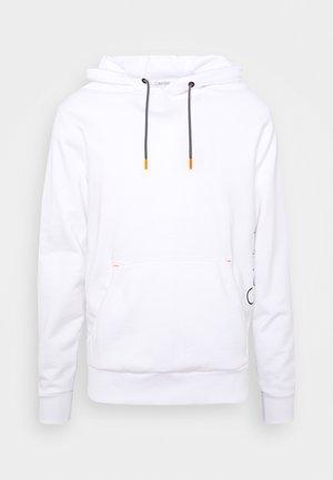 VERTICAL SIDE LOGO HOODIE - Bluza z kapturem - white