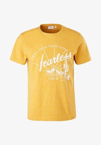 Print T-shirt - yellow melange