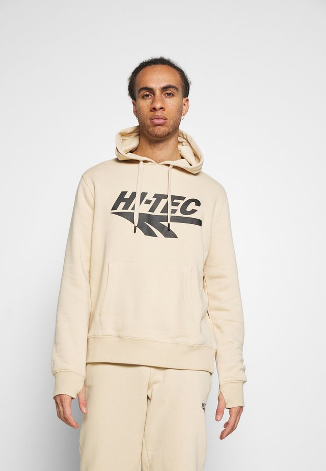 ALONZO BASIC HOODIE - Jersey con capucha - pebble