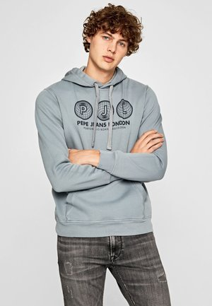 ANDY - Jersey con capucha - blue-grey