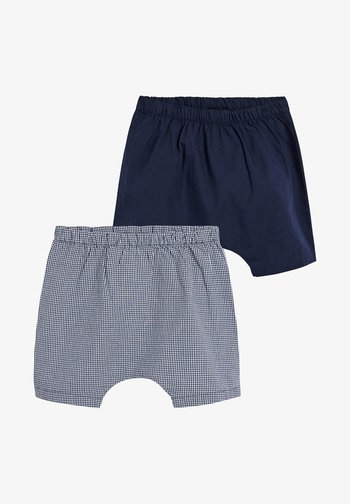 BLUE 2 PACK WOVEN SHORTS (0MTHS-2YRS)