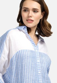 HELMIDGE - Button-down blouse - weiss hellblau - 3